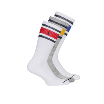 Accessorie Men Socks Polo Ralph Lauren 3PK OC CH ST-CREW-3 PACK White