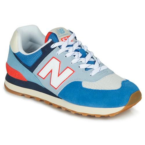 New Balance 574 Blue / Grey / Orange
