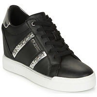 Shoes Women High top trainers Guess FL5FAY-ELE12-BLACK-SILVER Black / Silver
