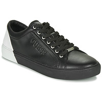 Shoes Men Low top trainers Guess LUISS Black / White