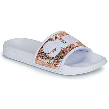 Shoes Women Sliders Superdry EVA 2.0 POOL SLIDE White / Gold