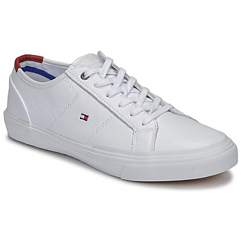 Shoes Men Low top trainers Tommy Hilfiger CORE CORPORATE FLAG SNEAKER White
