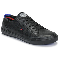 Shoes Men Low top trainers Tommy Hilfiger CORE CORPORATE FLAG SNEAKER Black