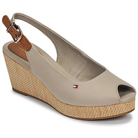 Shoes Women Sandals Tommy Hilfiger ICONIC ELBA SLING BACK WEDGE Taupe