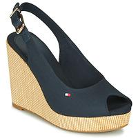 Shoes Women Sandals Tommy Hilfiger ICONIC ELENA SLING BACK WEDGE Blue