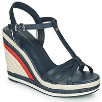 Shoes Women Sandals Tommy Hilfiger TOMMY STRAPPY HIGH WEDGE Blue
