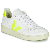 Shoes Women Low top trainers Veja V-10 White / Yellow