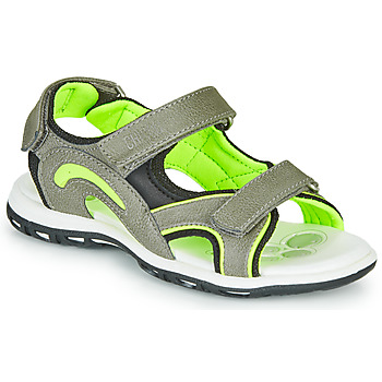 Shoes Boy Sports sandals Chicco CEDDER Grey / Green