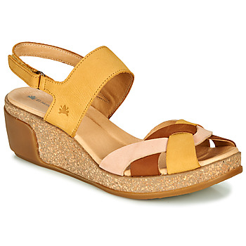 Shoes Women Sandals El Naturalista LEAVES Yellow / Brown / Beige