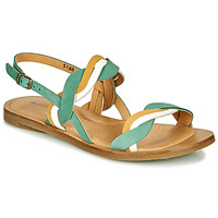 Shoes Women Sandals El Naturalista TULIP Green / Yellow / White