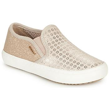 Shoes Girl Slip ons Geox J KILWI GIRL Beige