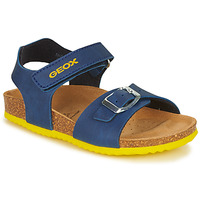 Shoes Boy Sandals Geox J GHITA BOY Blue / Yellow