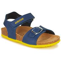 Shoes Boy Sandals Geox GHITA BOY Blue / Yellow