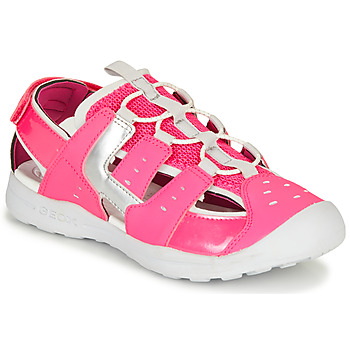 Shoes Girl Sports sandals Geox J VANIETT GIRL Pink / Silver