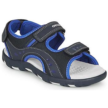 Shoes Boy Sports sandals Geox JR SANDAL PIANETA Marine