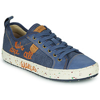 Shoes Boy Low top trainers Geox J ALONISSO BOY Blue / Brown
