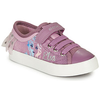 Shoes Girl Low top trainers Geox JR CIAK GIRL Violet