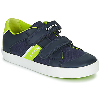 Shoes Boy Low top trainers Geox GISLI BOY Marine / Green
