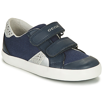 Shoes Boy Low top trainers Geox GISLI GIRL Marine / Silver