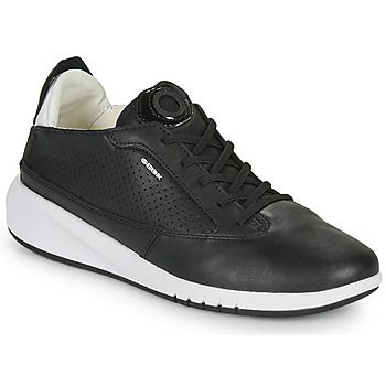 Shoes Women Low top trainers Geox D AERANTIS Black