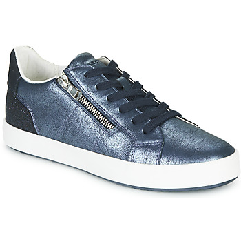 Shoes Women Low top trainers Geox D BLOMIEE Blue / Silver