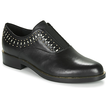 Shoes Women Derby shoes Geox D BROGUE S Black / Gold