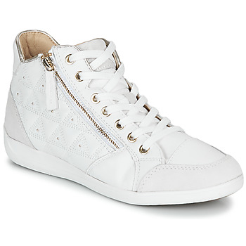 Shoes Women High top trainers Geox D MYRIA White