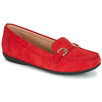 Shoes Women Loafers Geox D ANNYTAH MOC Red / Gold