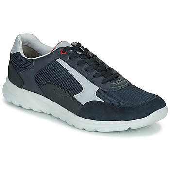 Shoes Men Low top trainers Geox U ERAST Marine / White