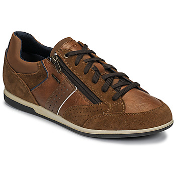 Shoes Men Low top trainers Geox U RENAN Brown / Blue