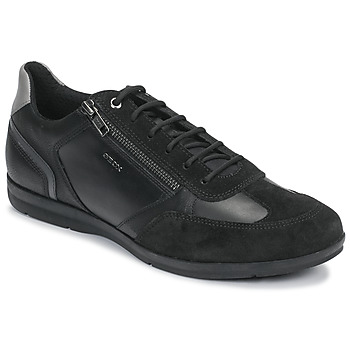 Shoes Men Low top trainers Geox U ADRIEN Black / Grey