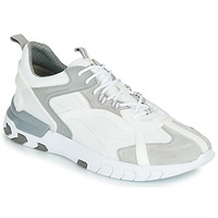 Shoes Men Low top trainers Geox U GRECALE White / Grey