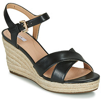Shoes Women Sandals Geox D SOLEIL Black