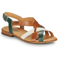 Shoes Women Sandals Pikolinos ALGAR W0X Camel / Green / White