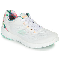 Shoes Women Fitness / Training Skechers FLEX APPEAL 3.0 White