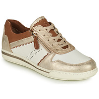 Shoes Women Low top trainers Tamaris  White / Gold / Brown