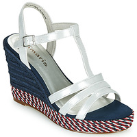 Shoes Women Sandals Tamaris CYNARA White / Marine / Red
