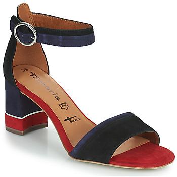 Shoes Women Sandals Tamaris DALINA Marine / Red