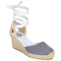 Shoes Women Sandals Le Temps des Cerises POLY Blue / White