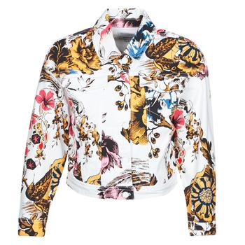 material Women Denim jackets Desigual FANTASY Multicolour