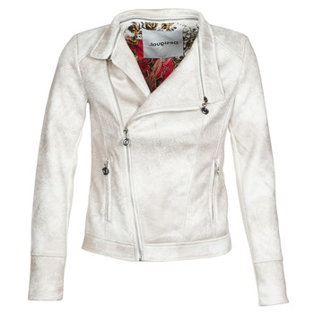 material Women Leather jackets / Imitation leather Desigual BROWARD White