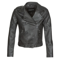 material Women Leather jackets / Imitation leather Desigual UTAH Black