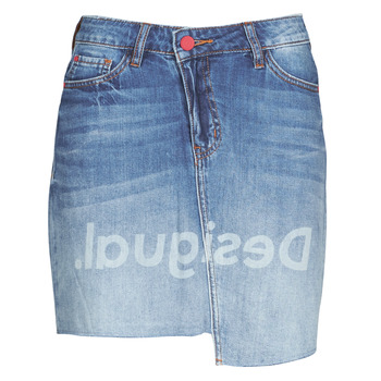 material Women Skirts Desigual LOG Blue