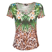 material Women short-sleeved t-shirts Desigual JUNGLE Multicolour