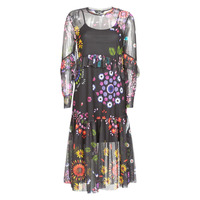 material Women Long Dresses Desigual PORTLAND Multicoloured