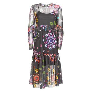 material Women Long Dresses Desigual PORTLAND Multicolour