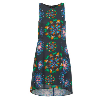 material Women Short Dresses Desigual CLAIR Multicolour
