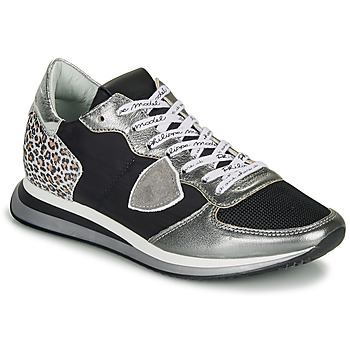 Shoes Women Low top trainers Philippe Model TROPEZ X Black / Silver