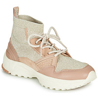 Shoes Women High top trainers Coach C245 RUNNER Pink / Nude / Silver