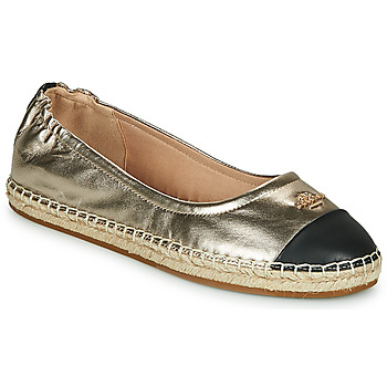 Shoes Women Espadrilles Coach CAMRYN Gold / Black